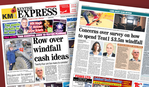 Kentish Express (TD) coverage of recent survey concerns