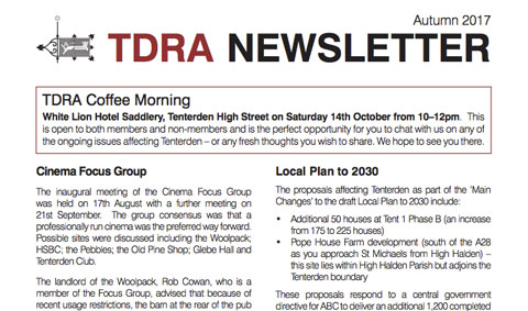 TDRA Newsletter Autumn 2017