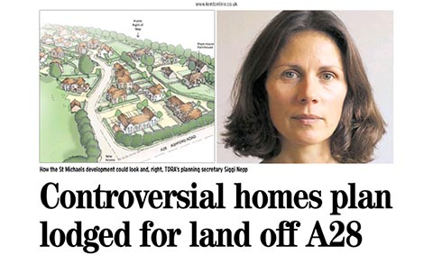 Controversial Homes Plan Lodged for Land off A28