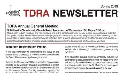 Read more: TDRA Newsletter Spring 2019