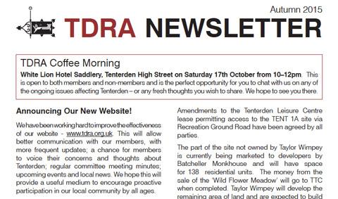 TDRA Newsletter Autumn 2015