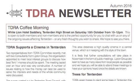 TDRA Newsletter Autumn 2016