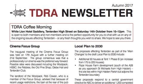 TDRA Newsletter Autumn 2017